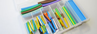 Assortment box 1 127 pieces heat shrink tubing (mixed colors)
